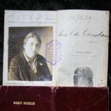 Documentos antiguos: CEDULA DE IDENTIDAD ARGENTINA - BUENOS AIRES - MUJER - 1925 NACIDA EN 1888 EN LA FEDERAL. Lote 114373559