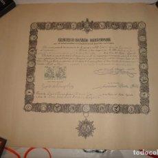 Documentos antiguos: TITULO DE CABALLERO DE CRUZ SENCILLA.1963.56 X 44 CM.. Lote 114614719