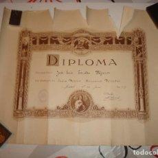 Documentos antiguos: TITULO HERMANOS MARISTAS.MADRID 1929.56 X 44 CM.. Lote 114615787