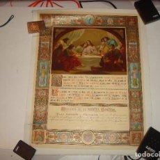 Documentos antiguos: RECUERDO PRIMERA COMUNION.1897.46 X 37 CM.. Lote 114615907