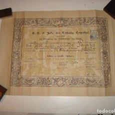 Documentos antiguos: TITULO PERITO AGRICOLA.1941.47 X 33 CM.. Lote 114616115