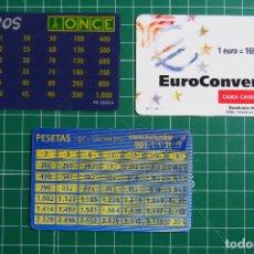 Documentos antiguos: 3 EUROCONVERSORES. ONCE. CAIXA CATALUNYA. CAMPAÑA COMUNICACIÓN EURO. EUROCONVERSOR. VER FOTOS. Lote 114774935