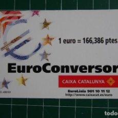 Documentos antiguos: EUROCONVERSOR CAIXA CATALUNYA. CAJA CATALUÑA. PERFECTO ESTADO CONSERVACION. VER FOTOS. Lote 114775471