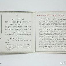 Documentos antiguos: RECORDATORIO DE CAMISA VIEJA DE FALANGE JOSÉ FIDALGO RODRÍGUEZ, MUERTE 1936 -ASTURIAS - GUERRA CIVIL. Lote 114782251
