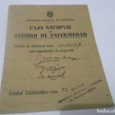 Documentos antiguos: CAJA NACIONAL SEGURO DE ENFERMEDAD - CARTILLA DE IDENTIDAD- PROFESION DEPENDIENTE ,SEVILLA 1944. Lote 114816671