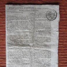Documentos antiguos: 1808-BOLETIN GUERRA SUCESIÓN.NAPOLEÓN.ASEDIO ROSES ROSAS.CALAHORRA.AGREDA.TUDELA.MADRID.ARANDA. . Lote 115026555