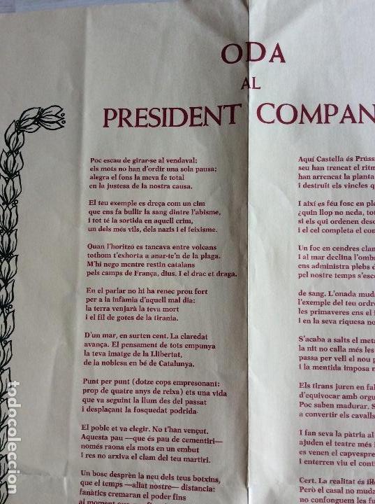 Documentos antiguos: Oda al President Companys per Joan Brossa . Any 1976 - Edicions la Humanitat - Foto 4 - 115217515