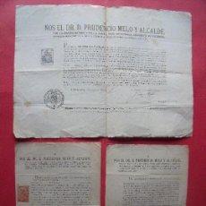 Documentos antiguos: PRUDENCIO MELO Y ALCALDE.-ARZOBISPO DE VALENCIA.-REAL CEDULA.-FIRMAS MANUSCRITAS.-BELLREGUART.. Lote 115420987