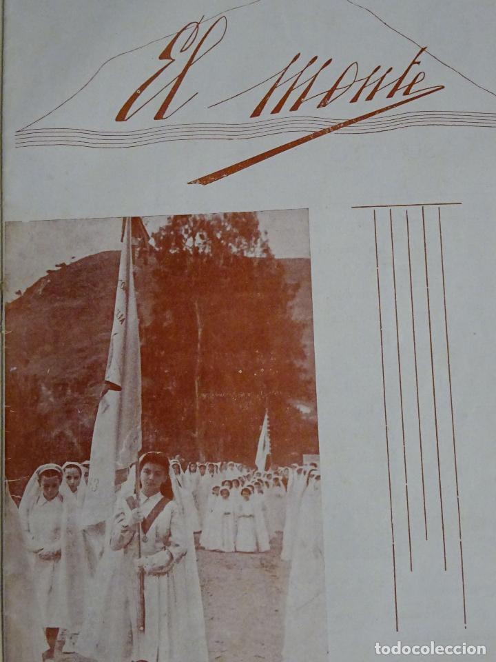 REVISTA DOCUMENTO RELIGIOSO. EL MONTE. AÑO 1948. NIÑAS. COLEGIO SAGRADA FAMILIA MÁLAGA. 40 GR (Coleccionismo - Documentos - Otros documentos)
