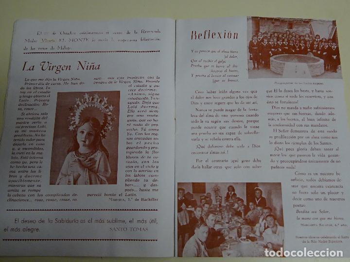 Documentos antiguos: REVISTA DOCUMENTO RELIGIOSO. EL MONTE. AÑO 1948. NIÑAS. COLEGIO SAGRADA FAMILIA MÁLAGA. 40 GR - Foto 3 - 115428263