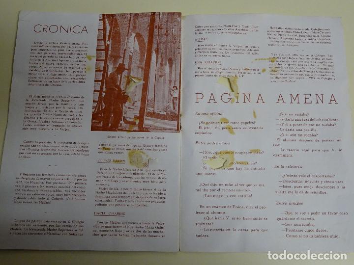 Documentos antiguos: REVISTA DOCUMENTO RELIGIOSO. EL MONTE. AÑO 1948. NIÑAS. COLEGIO SAGRADA FAMILIA MÁLAGA. 40 GR - Foto 4 - 115428263