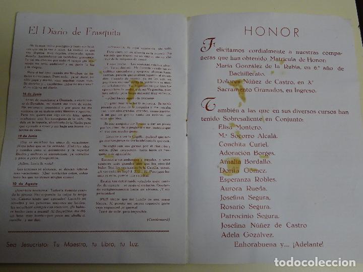 Documentos antiguos: REVISTA DOCUMENTO RELIGIOSO. EL MONTE. AÑO 1948. NIÑAS. COLEGIO SAGRADA FAMILIA MÁLAGA. 40 GR - Foto 5 - 115428263