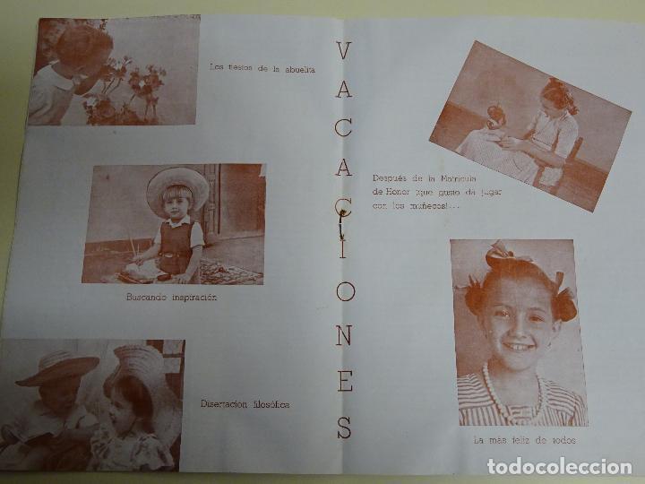 Documentos antiguos: REVISTA DOCUMENTO RELIGIOSO. EL MONTE. AÑO 1948. NIÑAS. COLEGIO SAGRADA FAMILIA MÁLAGA. 40 GR - Foto 7 - 115428263
