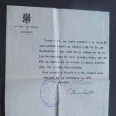 Documentos antiguos: DOCUMENTO CITACION / DOSRIUS AÑO 1939 / BARCELONA / AYUNTAMIENTO NACIONAL / DIOS GUARDE A ESPAÑA. Lote 115513739