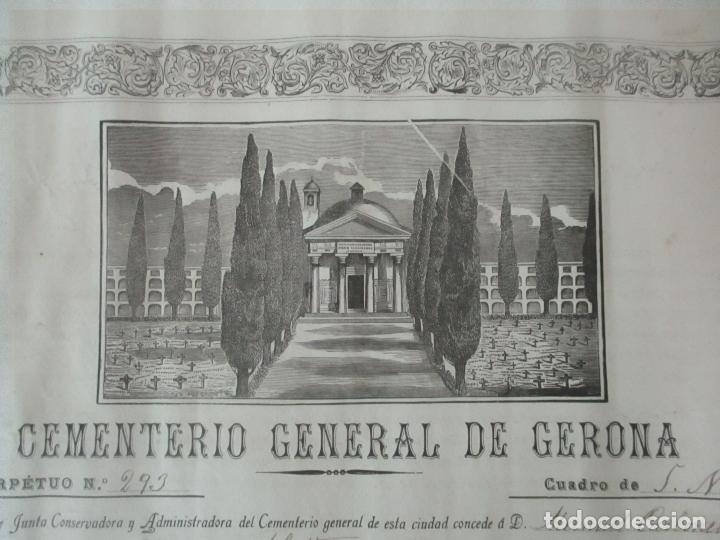 Documentos antiguos: Documento Cementerio General de Gerona (Girona) - San Narciso - Compra de un Nincho - Año 1901 - Foto 3 - 115538775