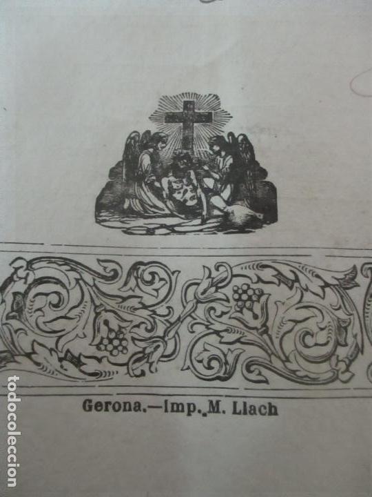 Documentos antiguos: Documento Cementerio General de Gerona (Girona) - San Narciso - Compra de un Nincho - Año 1901 - Foto 8 - 115538775