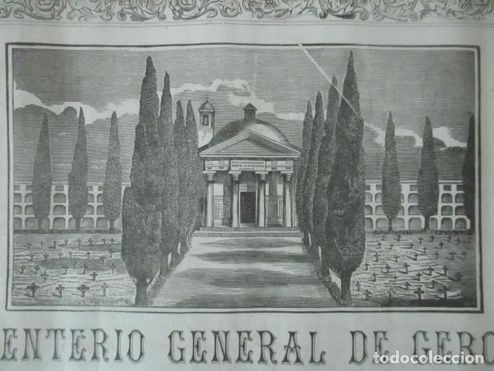 Documentos antiguos: Documento Cementerio General de Gerona (Girona) - San Narciso - Compra de un Nincho - Año 1901 - Foto 10 - 115538775
