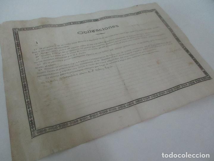 Documentos antiguos: Documento Cementerio General de Gerona (Girona) - San Narciso - Compra de un Nincho - Año 1901 - Foto 11 - 115538775