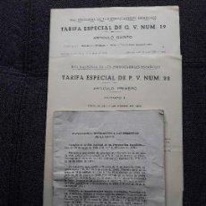 Documentos antiguos: LOTE DE 3 DOCUMENTOS RENFE. TRENES. FERROCARRILES.. Lote 116237179