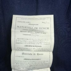 Documentos antiguos: INSTITUTO GENERAL Y TECNICO BAEZA CURSO 1906 1907 MATRICULA HONOR HISTORIA ESPAÑA Y UNIVERSAL. Lote 116273439