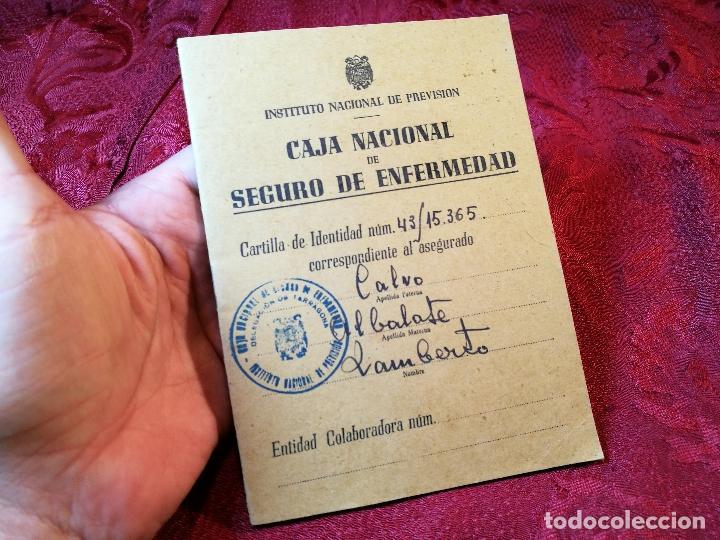 CARTILLA IDENTIDAD CAJA NACIONAL DE SEGURO ENFERMEDAD 1944-TARRAGONA (Coleccionismo - Documentos - Otros documentos)