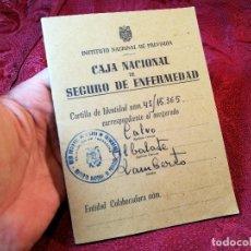 Documentos antiguos: CARTILLA IDENTIDAD CAJA NACIONAL DE SEGURO ENFERMEDAD 1944-TARRAGONA. Lote 116279423