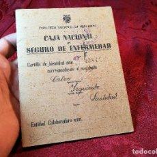 Documentos antiguos: CARTILLA IDENTIDAD CAJA NACIONAL DE SEGURO ENFERMEDAD 1944-TARRAGONA. Lote 116279599
