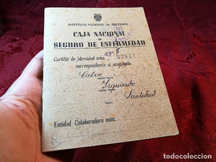 Documentos antiguos: CARTILLA IDENTIDAD CAJA NACIONAL DE SEGURO ENFERMEDAD 1944-TARRAGONA - Foto 2 - 116279599