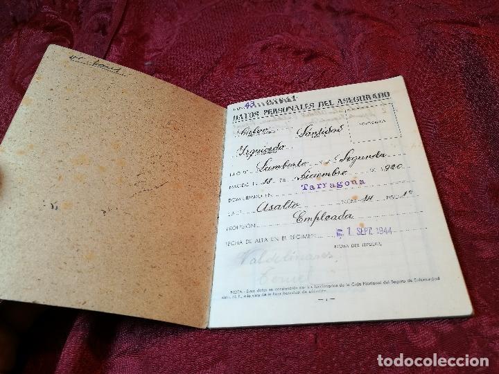 Documentos antiguos: CARTILLA IDENTIDAD CAJA NACIONAL DE SEGURO ENFERMEDAD 1944-TARRAGONA - Foto 3 - 116279599
