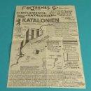 Documentos antiguos: PANFLETO VALENCIANISTA ANTI PAÍSES CATALANES. AÑOS 70 - 80- FORMATO 15 X 21,5 CM. Lote 116480559
