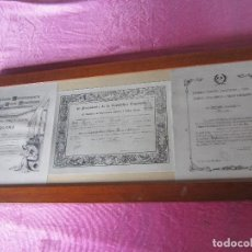 Documentos antiguos: TITULO CAPATAZ DE MINAS FABRICA DE MIERES PREMIO ADARO 1934 ORIGINAL ENMARCADO.. Lote 116594507