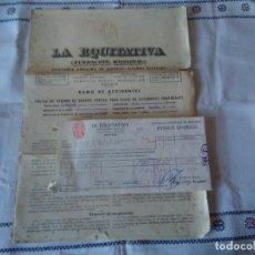 Documentos antiguos: 53-ANTIGUA POLIZA DE SEGUROS LA EQUITATIVA, 1955. Lote 116649235