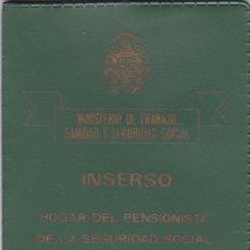 Documentos antiguos: INSERSO. CARTERITA PARA DOCUMENTOS. MINISTERIO DE TRABAJO, SANIDAD Y SEGURIDAD SOCIAL (1981). Lote 116776619