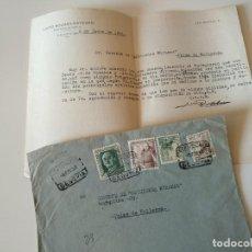 Documentos antiguos: CARTA A MAQUINA ESCRITA Y FIRMADA POR PINTOR DE GARCILLAN, LUCIO ROLDAN ESTEBAN+SOBRE. Lote 117141235