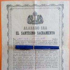 Documentos antiguos: MURCIA- COMUNIDAD DE POBRES CAPUCHINOS- CONVENTO RELIGIOSAS CAPUCHINAS 1.917. Lote 117115131