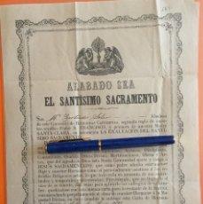 Documentos antiguos: MURCIA- COMUNIDAD DE POBRES CAPUCHINOS- CONVENTO RELIGIOSAS CAPUCHINAS 1899. Lote 117115303