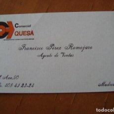 Documentos antiguos: TARJETA COMERCIAL QUESA. Lote 117294987