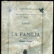 Documentos antiguos: LIBRO DE FAMILIA, EN BLANCO. SEGÚN LA NORMATIVA DE 1915 (ÉPOCA DE ALFONSO XIII). 12 PÁGS.. Lote 118166523