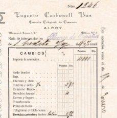 Documentos antiguos: DOCUMENTO BANCA - 1926 - PROVINCIA DE ALICANTE. Lote 118426883