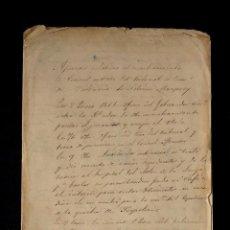 Documentos antiguos: APUNTES RELATIVOS AL NOMBRAMIENTO DE CONSUL SUSTITUTO DEL TRIBUNAL COMERCIO VALENCIA,1851 MAUPOEY. Lote 118466795