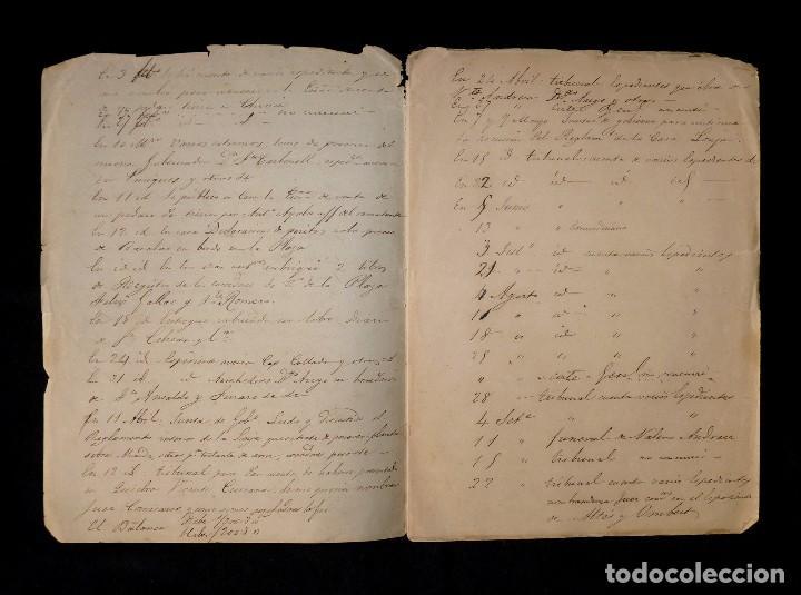 Documentos antiguos: APUNTES RELATIVOS AL NOMBRAMIENTO DE CONSUL SUSTITUTO DEL TRIBUNAL COMERCIO VALENCIA,1851 MAUPOEY - Foto 2 - 118466795