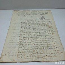 Documentos antiguos: SELLO QUARTO QUARENTA MARAVEDIES 1825 - VICH JULIA GALLIFA . Lote 118613971