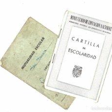 Documentos antiguos: CARTILLA DE ESCOLARIDAD Y MUTUALIDAD ESCOLAR. AVILA. 1955. Lote 118733695