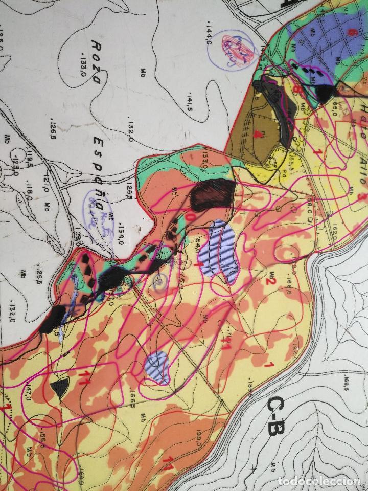 Documentos antiguos: 67 x 56 cm 4 mapas transparencias ayuntamiento castelar de la frontera. plano de zonificacion cadiz - Foto 4 - 118809763