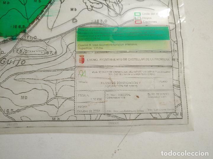 Documentos antiguos: 67 x 56 cm 4 mapas transparencias ayuntamiento castelar de la frontera. plano de zonificacion cadiz - Foto 2 - 118809763