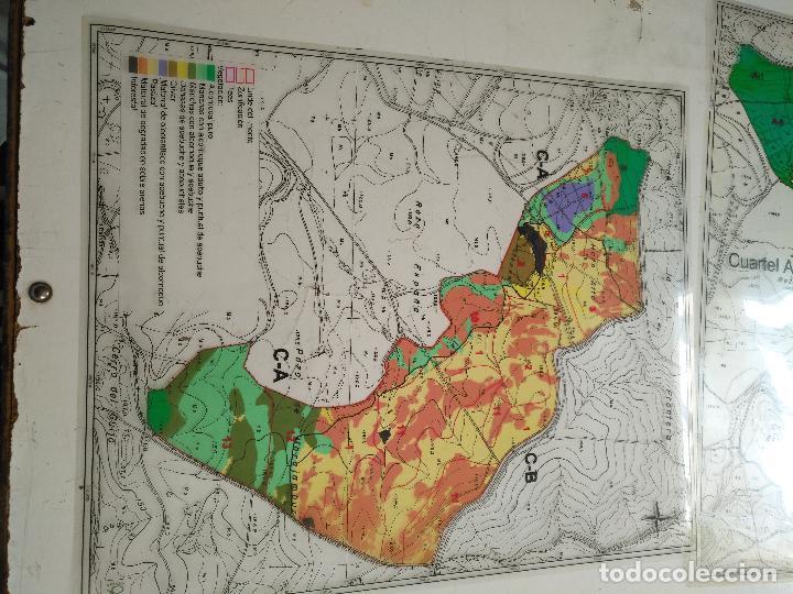 Documentos antiguos: 67 x 56 cm 4 mapas transparencias ayuntamiento castelar de la frontera. plano de zonificacion cadiz - Foto 9 - 118809763