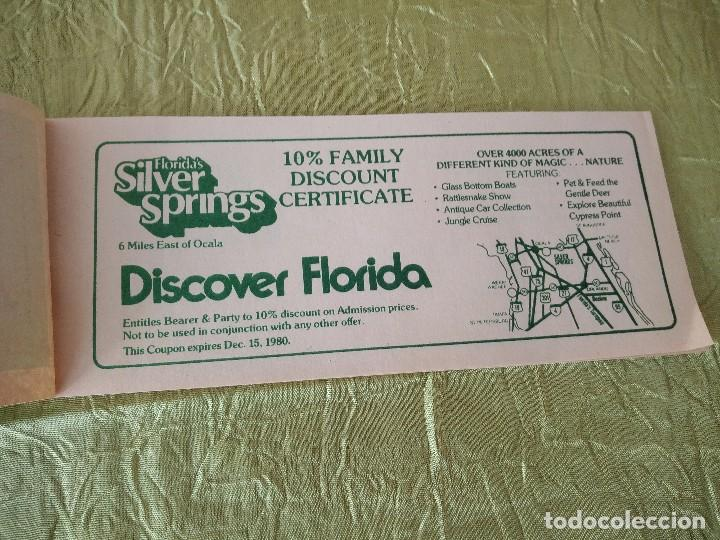 Documentos antiguos: discover the real florida,valuable family coupons 1980.9 vales.Librillo de entradas - Foto 2 - 118830979