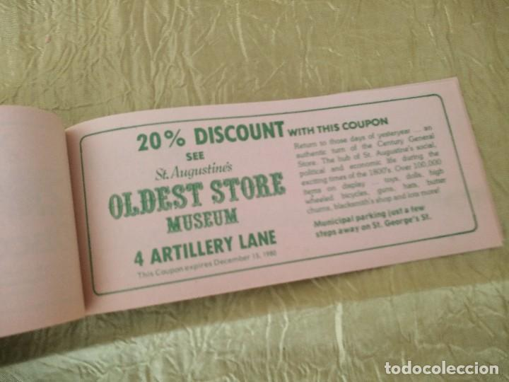 Documentos antiguos: discover the real florida,valuable family coupons 1980.9 vales.Librillo de entradas - Foto 9 - 118830979