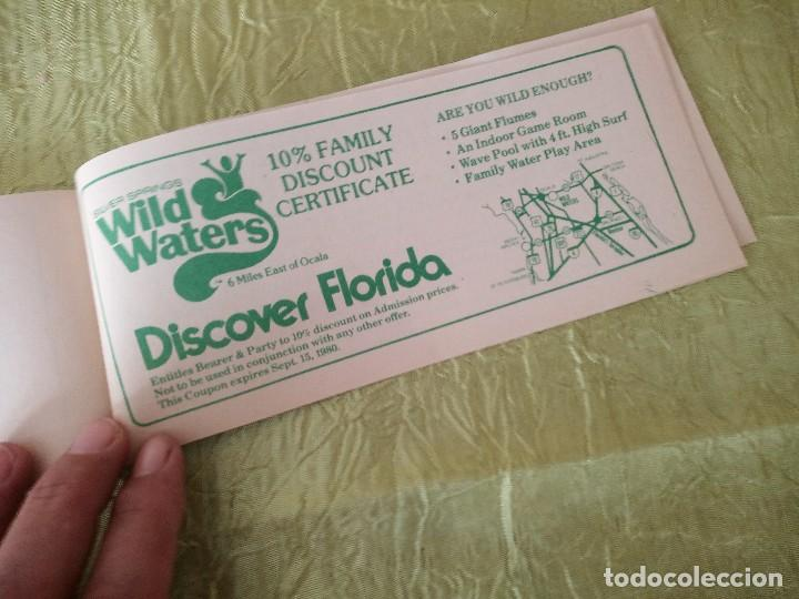 Documentos antiguos: discover the real florida,valuable family coupons 1980.9 vales.Librillo de entradas - Foto 10 - 118830979