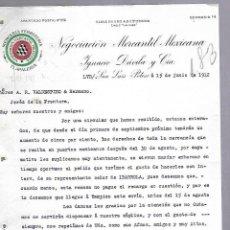 Documentos antiguos: CARTA COMERCIAL. MERCERIA FERRETERIA. NEGOCIACION MERCANTIL MEXICANA. 1912. SAN LUIS POTOSI. Lote 118865199